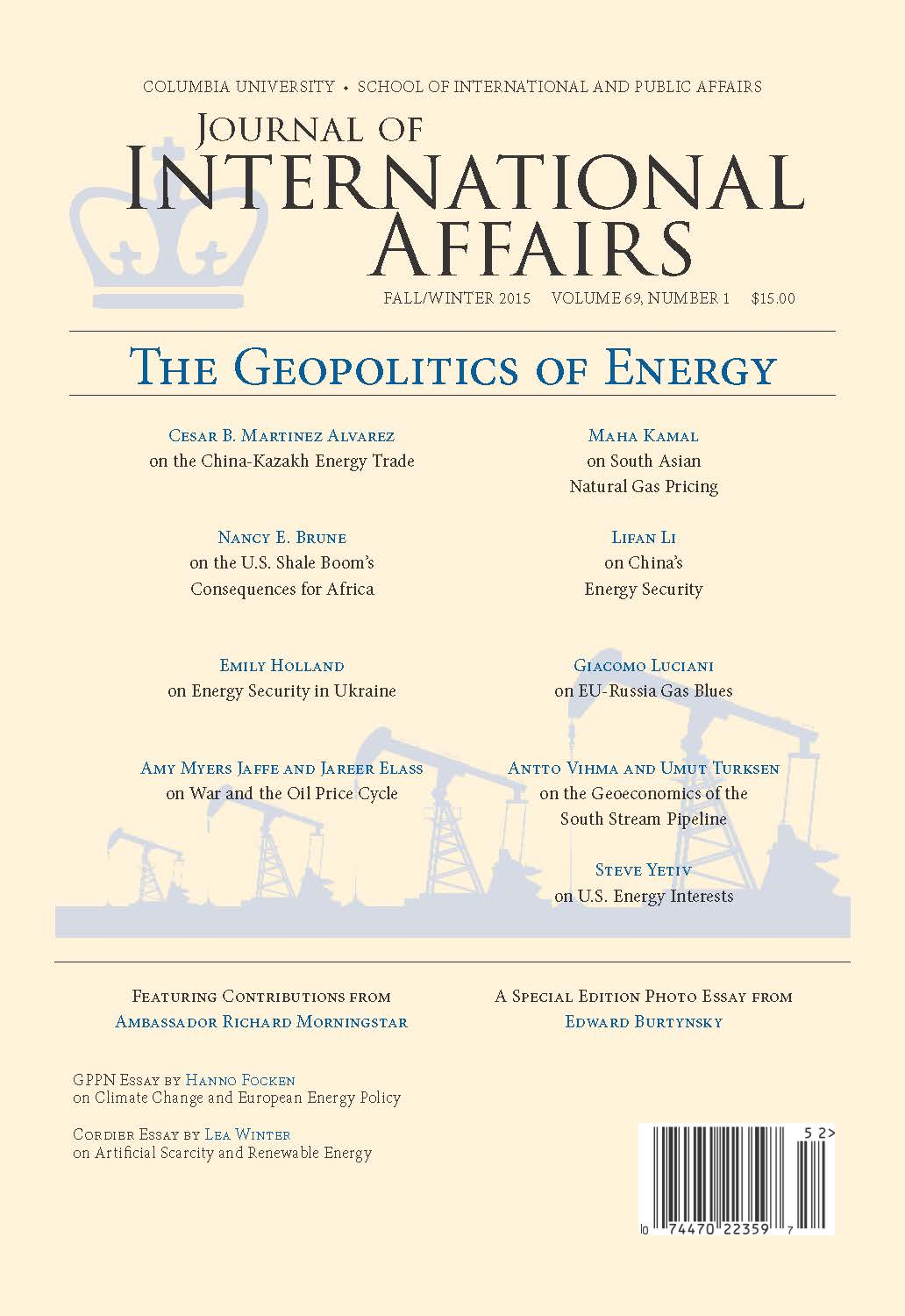 energy geopolitics Abstract this study examines the geopolitics of global energy security, defined  as the influence of geo- graphical factors, such as the distribution of centres of.